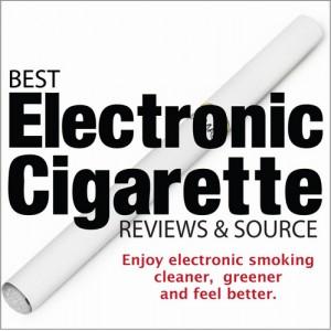 e-cig photo with a reviews slogan
